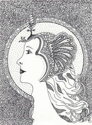 Art Print featuring the drawing Cleopatra  by Tamyra Crossley