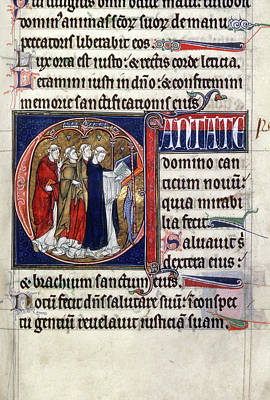 Psalter Painting - Clerics Chanting, C1290 by Granger