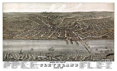 Ohio Painting - Cleveland - Ohio - 1877 by Pablo Romero