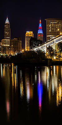Photograph - Cleveland At Night V Panoramic by Dale Kincaid