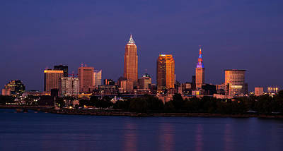 Photograph - Cleveland At Twilight by Dale Kincaid
