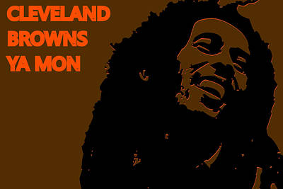 Drum Photograph - Cleveland Browns Ya Mon by Joe Hamilton
