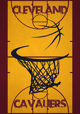 Baskets Photograph - Cleveland Cavaliers Court by Joe Hamilton