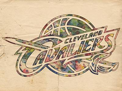 Basketball Painting - Cleveland Cavaliers Poster Art by Florian Rodarte