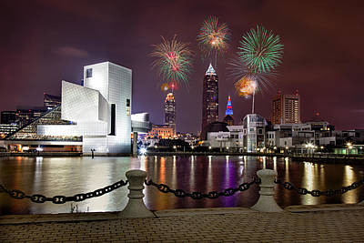 Cleveland Fireworks Fantasy Original by Jerry Jelinek