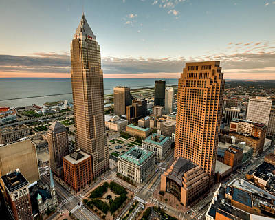 Photograph - Cleveland From A Birds Eye View by Brent Durken