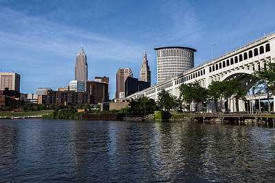 Photograph - Cleveland From The Cuyahoga by Dale Kincaid