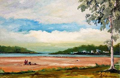 Beach Landscape Drawing - Cleveland by Helen Syron