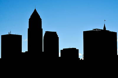Photograph - Cleveland In Silhouette by Frozen in Time Fine Art Photography