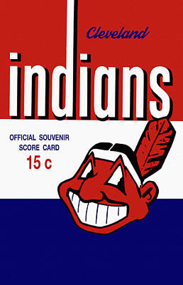 Cleveland Stadium Painting - Cleveland Indians 1957 Scorecard by Big 88 Artworks