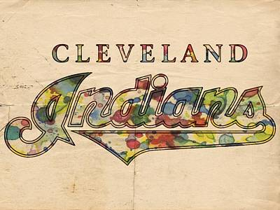 Mlb Painting - Cleveland Indians Poster Vintage by Florian Rodarte