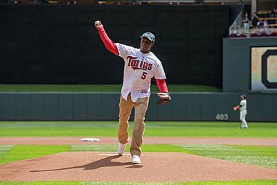 Photograph - Cleveland Indians V Minnesota Twins by Brace Hemmelgarn