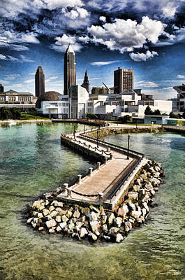 Art Print featuring the photograph Cleveland Inner Harbor - Cleveland Ohio - 1 by Mark Madere