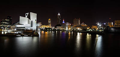 Photograph - Cleveland Lakefront Nightscape by Dale Kincaid