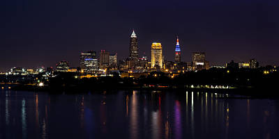 Photograph - Cleveland Nightscape by Dale Kincaid