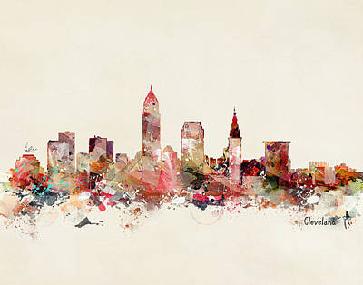 Ohio Painting - Cleveland Ohio by Bri B