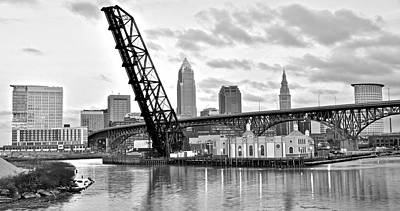Pittsburgh Steeler Photograph - Cleveland Over The Cuyahoga by Frozen in Time Fine Art Photography