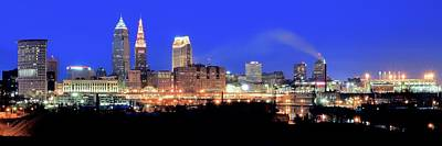 Sports Royalty-Free and Rights-Managed Images - Cleveland Panoramic      by Frozen in Time Fine Art Photography
