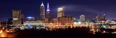 Cleveland Panoranic Art Print by Frozen in Time Fine Art Photography