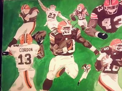 Cleveland Browns Football Painting - Cleveland Rocks by Edward Settles