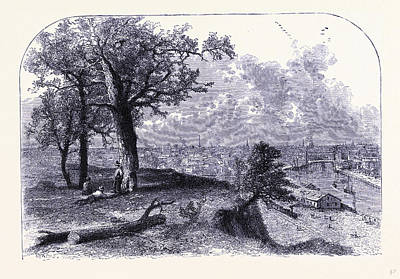 Cleveland Seen From Scrantons Hill United States Of America Art Print by American School