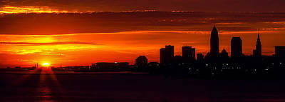 Photograph - Cleveland Silhouette by Dale Kincaid