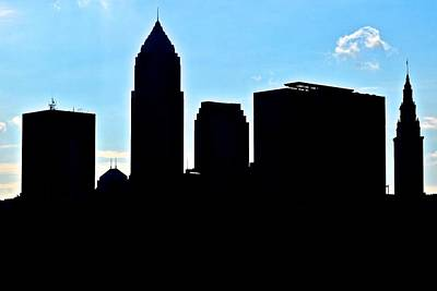 Athletes Royalty-Free and Rights-Managed Images - Cleveland Silhouetted by Frozen in Time Fine Art Photography