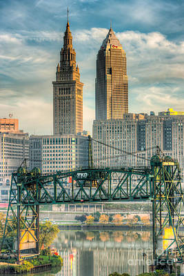 Photograph - Cleveland Skyline And The Flats I by Clarence Holmes