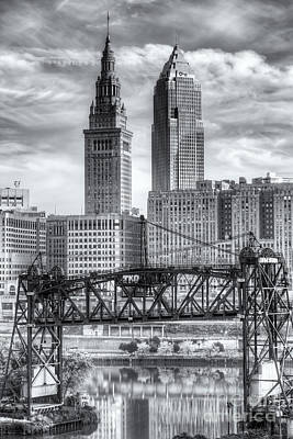 Photograph - Cleveland Skyline And The Flats II by Clarence Holmes