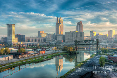 Photograph - Cleveland Skyline And The Flats IIi by Clarence Holmes
