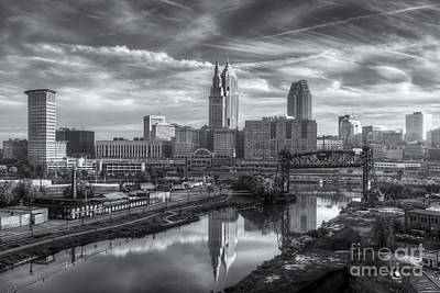 Photograph - Cleveland Skyline And The Flats Iv by Clarence Holmes