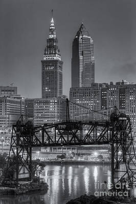 Photograph - Cleveland Skyline And The Flats Morning Twilight II by Clarence Holmes