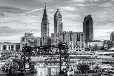 Photograph - Cleveland Skyline And The Flats Vi by Clarence Holmes