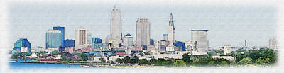 Cleveland Skyline Original by Anthony Caruso