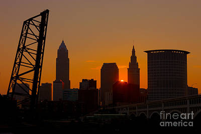 Cityscape Photograph - Cleveland Skyline At Sunrise I by Clarence Holmes