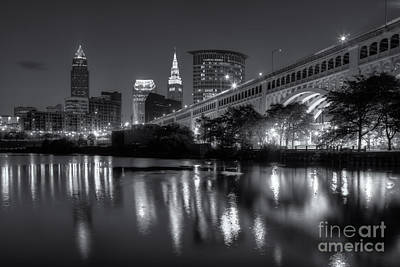 Photograph - Cleveland Skyline Morning Twilight II by Clarence Holmes