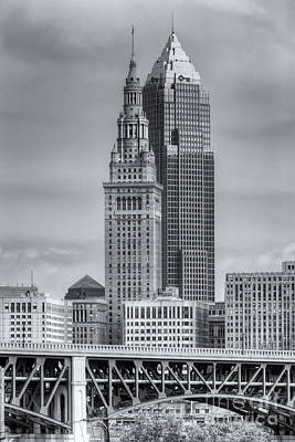 Photograph - Cleveland Skyscrapers II by Clarence Holmes