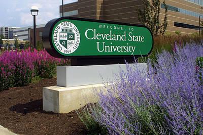 Csu Photograph - Cleveland State University by William Ragan
