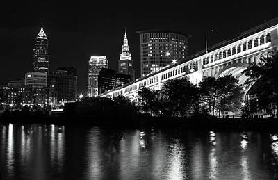 Downtown Cleveland Photograph - Cleveland Superior In Monotone by J Allen