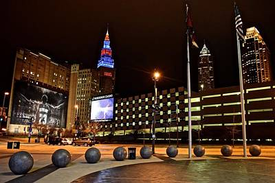Athletes Royalty-Free and Rights-Managed Images - Clevelands Big Three from The Q by Frozen in Time Fine Art Photography