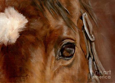 Horse Eye Painting - Clever Eye by Linda Shantz