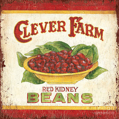 Clever Farms Beans Print by Debbie DeWitt