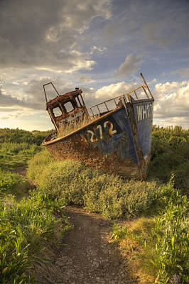 Photograph - Cley Wreck by Ian Merton
