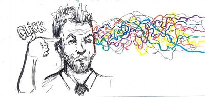 Creativity Drawing - Click - Open Your Mind by Kevin Ball