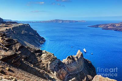 Rock Photograph - Cliff And Rocks Of Santorini Island Greece by Michal Bednarek