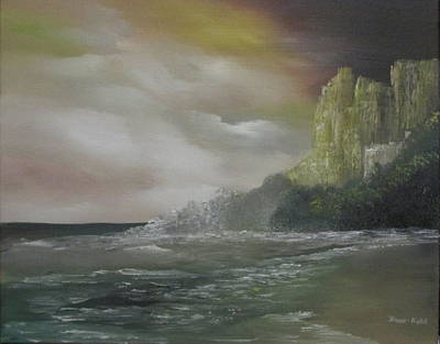 Nickel Yellow Painting - Cliff Bay by Dawn Nickel