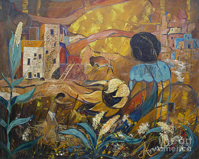 Painting - Cliff Dwellers by Avonelle Kelsey