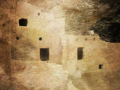 Digital Art - Cliff Dwelling 2 Mesa Verde by Jean Moore