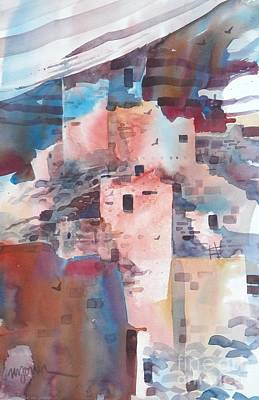 Southwest Painting - Cliff Dwellings by Micheal Jones