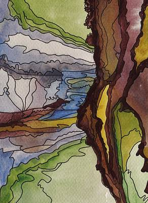 Painting - Cliff Face Views by Barbara St Jean